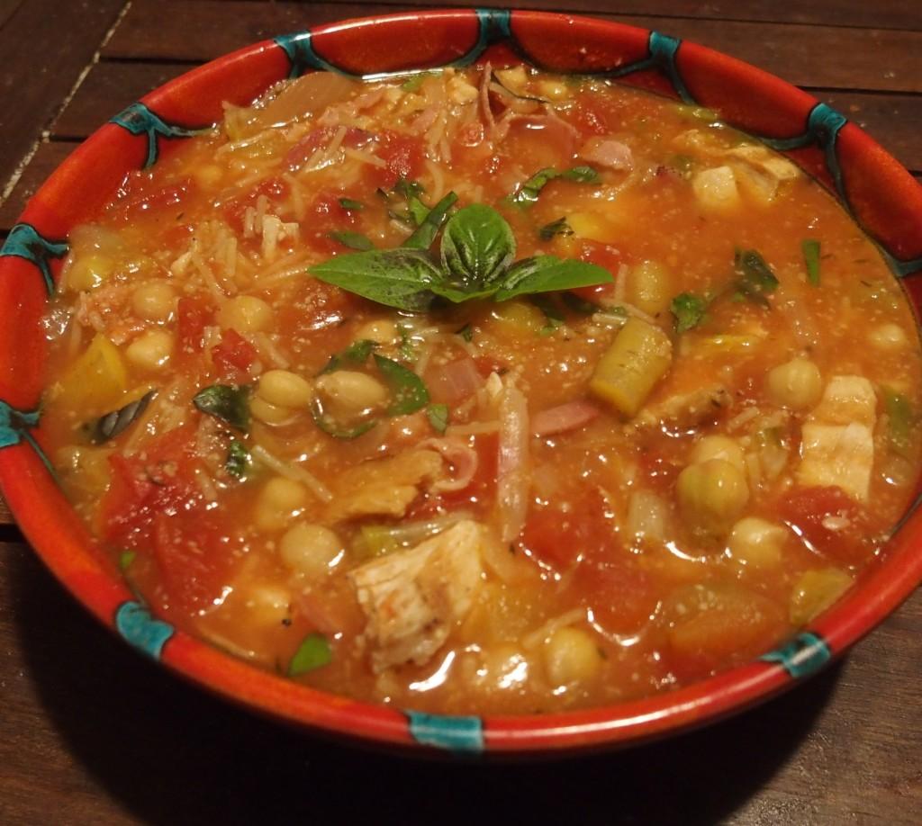 recette soupe poulet minestrone