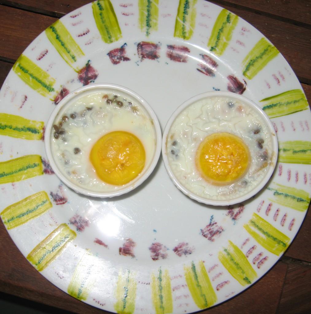 oeufs cocotte lentilles recette