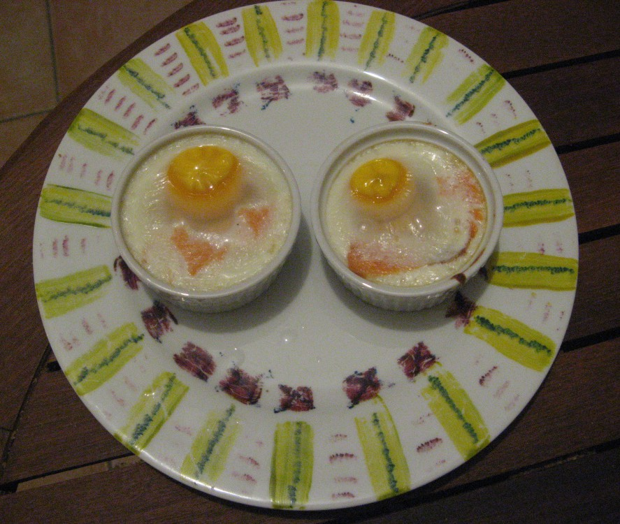 oeuf cocotte truite
