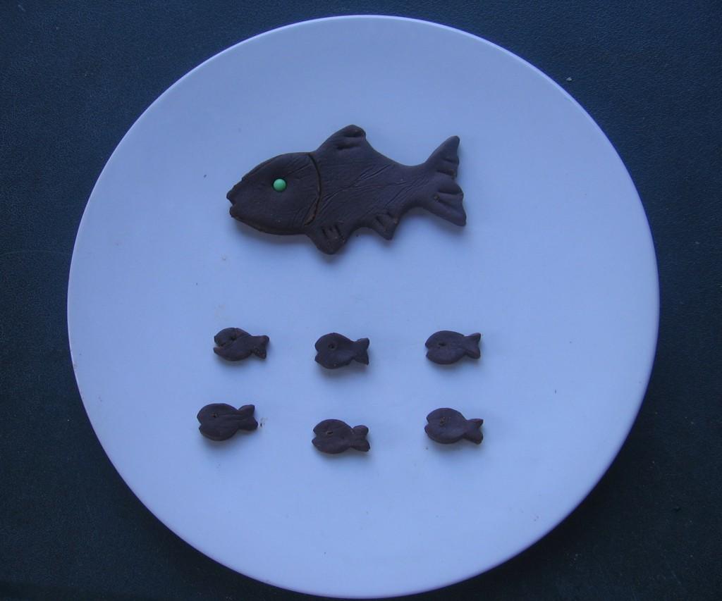 recette poisson avril pate à modeler chocolat