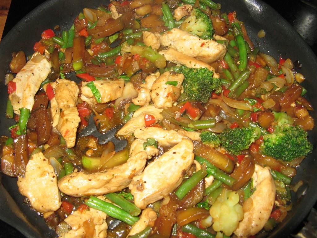 poulet legumes grilles