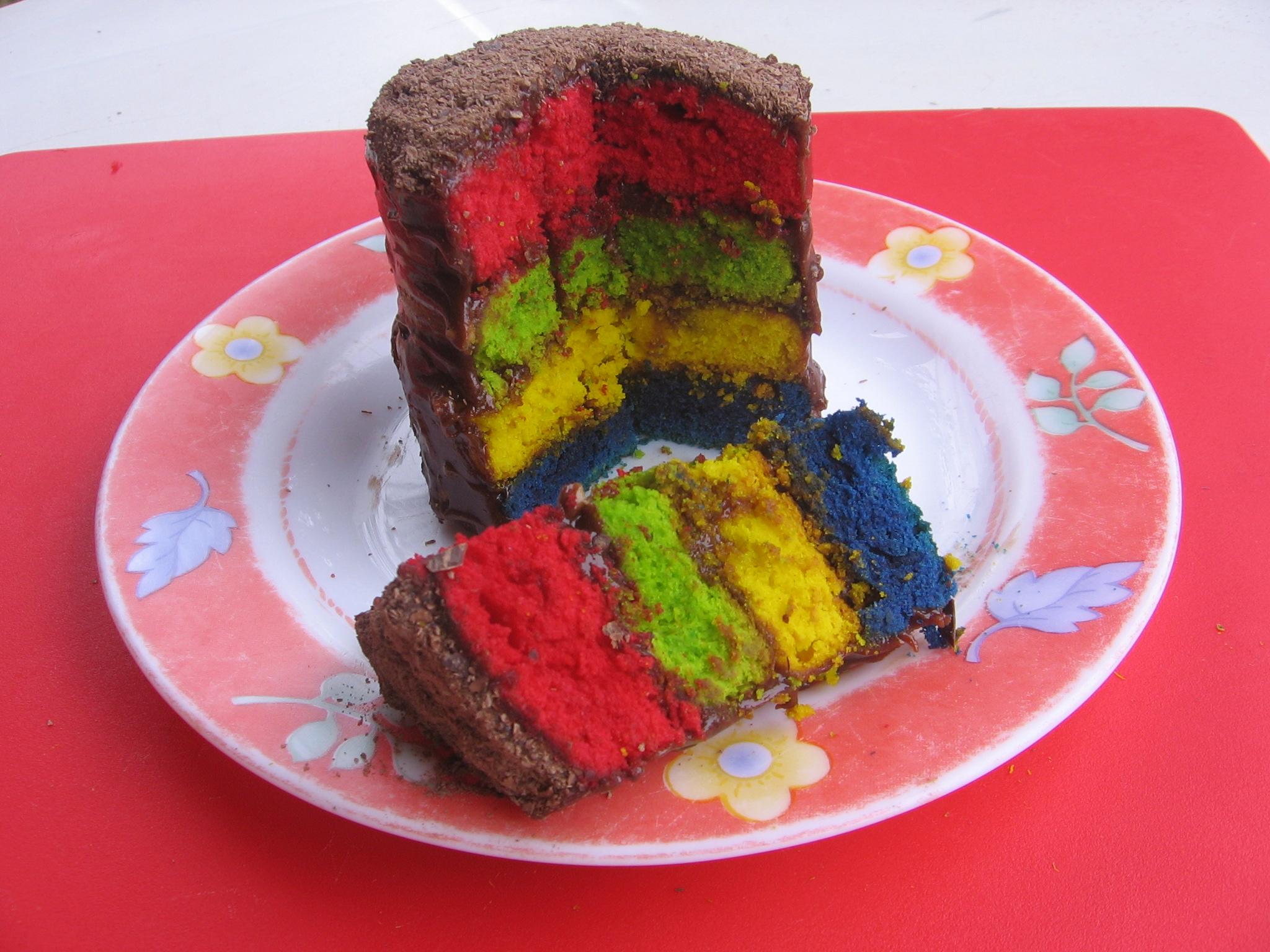Epatez vos amis avec ce Rainbow Cake