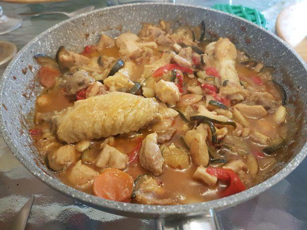 Un délicieux poulet aux amandes