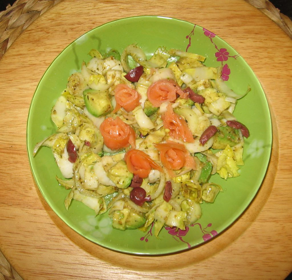 recette salade avocat endives saumon
