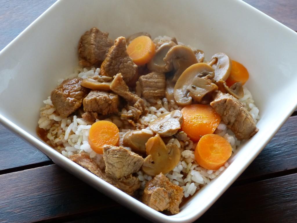 recette boeuf champignons carottes