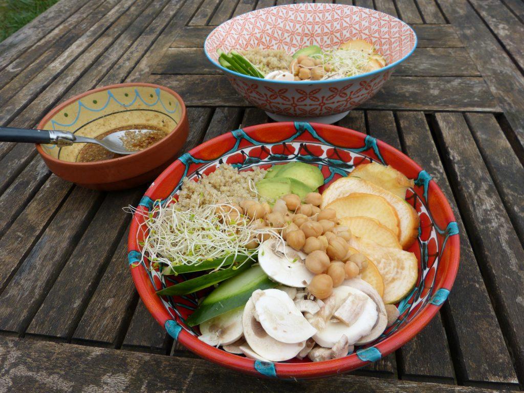 recette buddha bowl avocat champignons