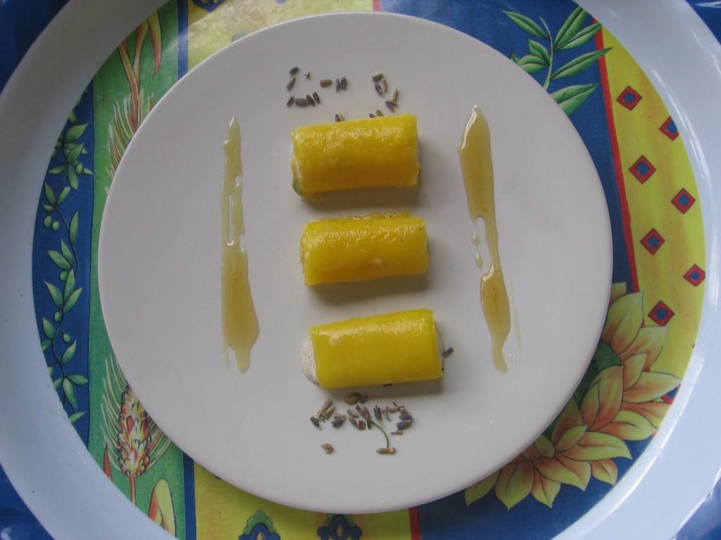 recette cannelloni mangue miel lavande