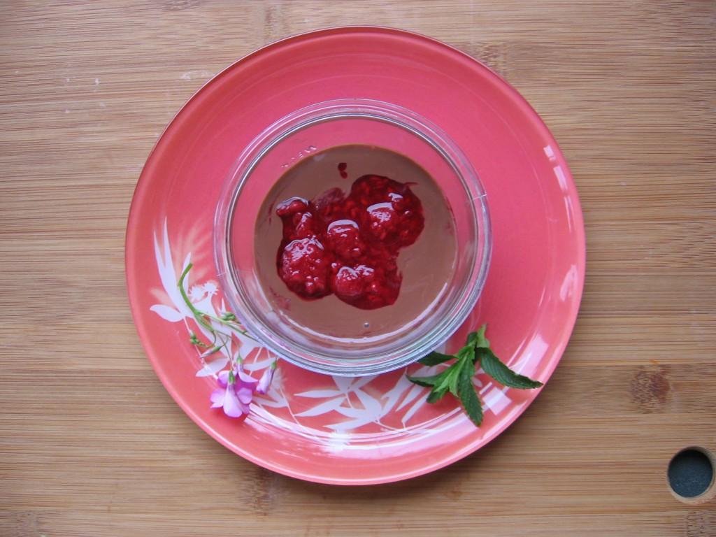 recette creme amandes framboises