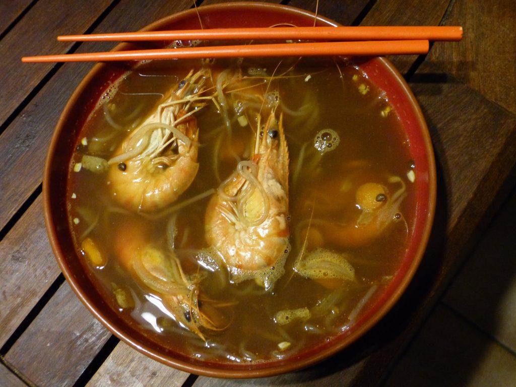 recette soupe miso crevettes konjac