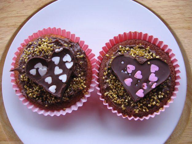 D'adorables cupcakes pour la Saint-Valentin