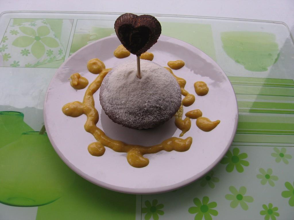 recette gateau saint valentin mangue