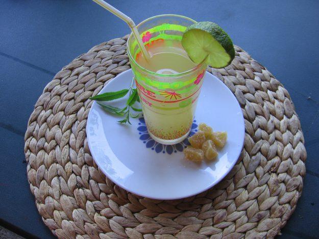 Granité de verveine au gingembre et citron vert