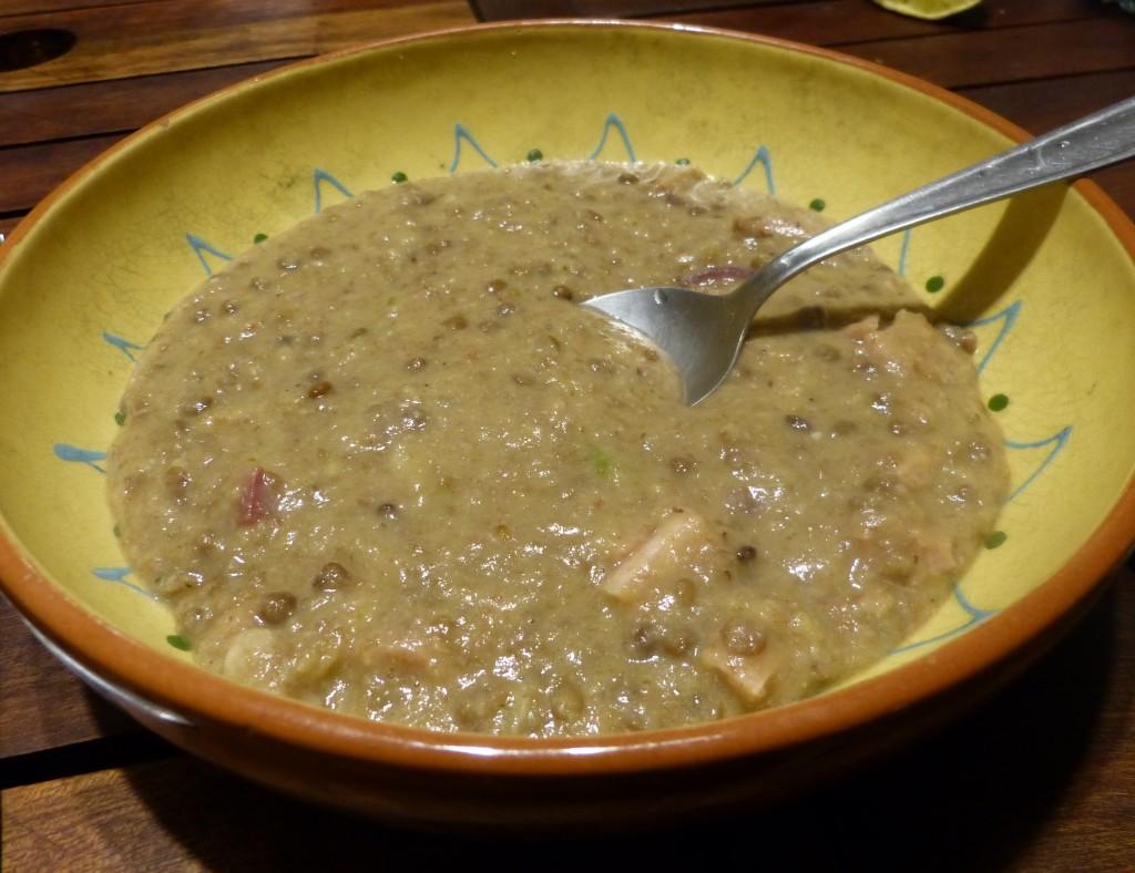 recette-lentilles-jambon soupe