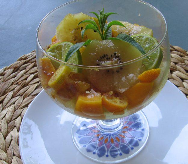 Un méli-mélo de fruits exotiques très rafraichissant