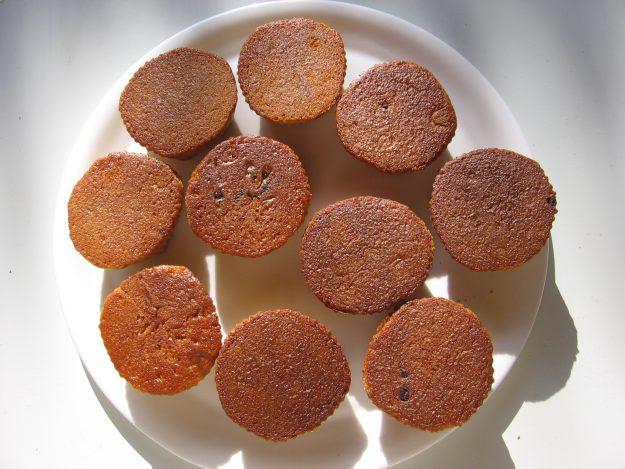Muffins sans gluten aux orangettes confites