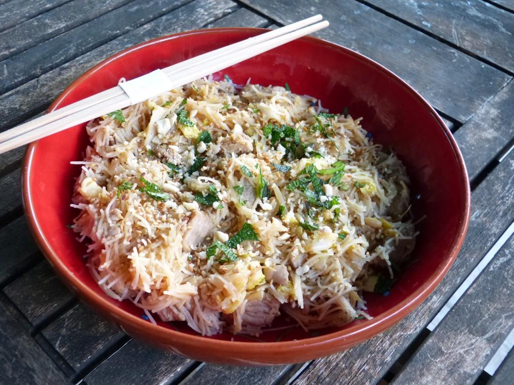 recette nouilles riz filet porc
