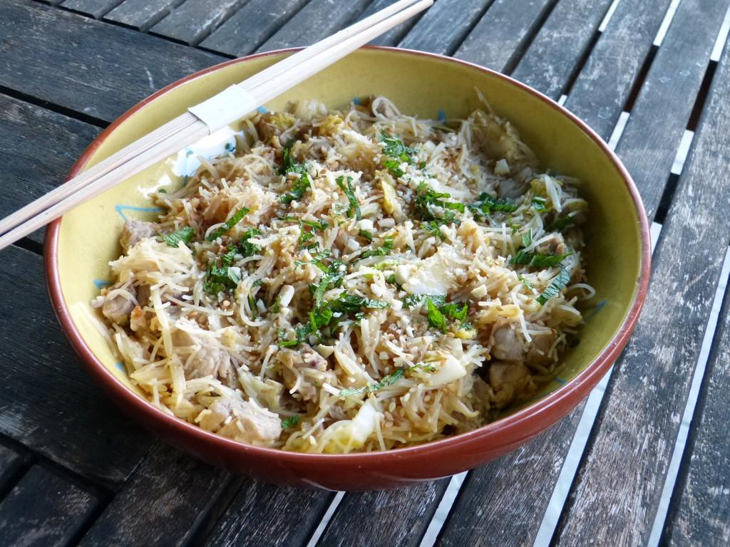recette nouilles riz porc