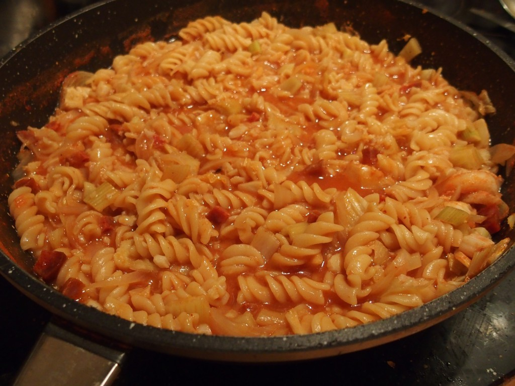recette one pot pasta cabillaud chorizo