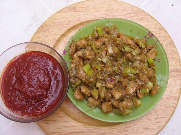 Galettes de sarrasin au poulet façon lasagnes