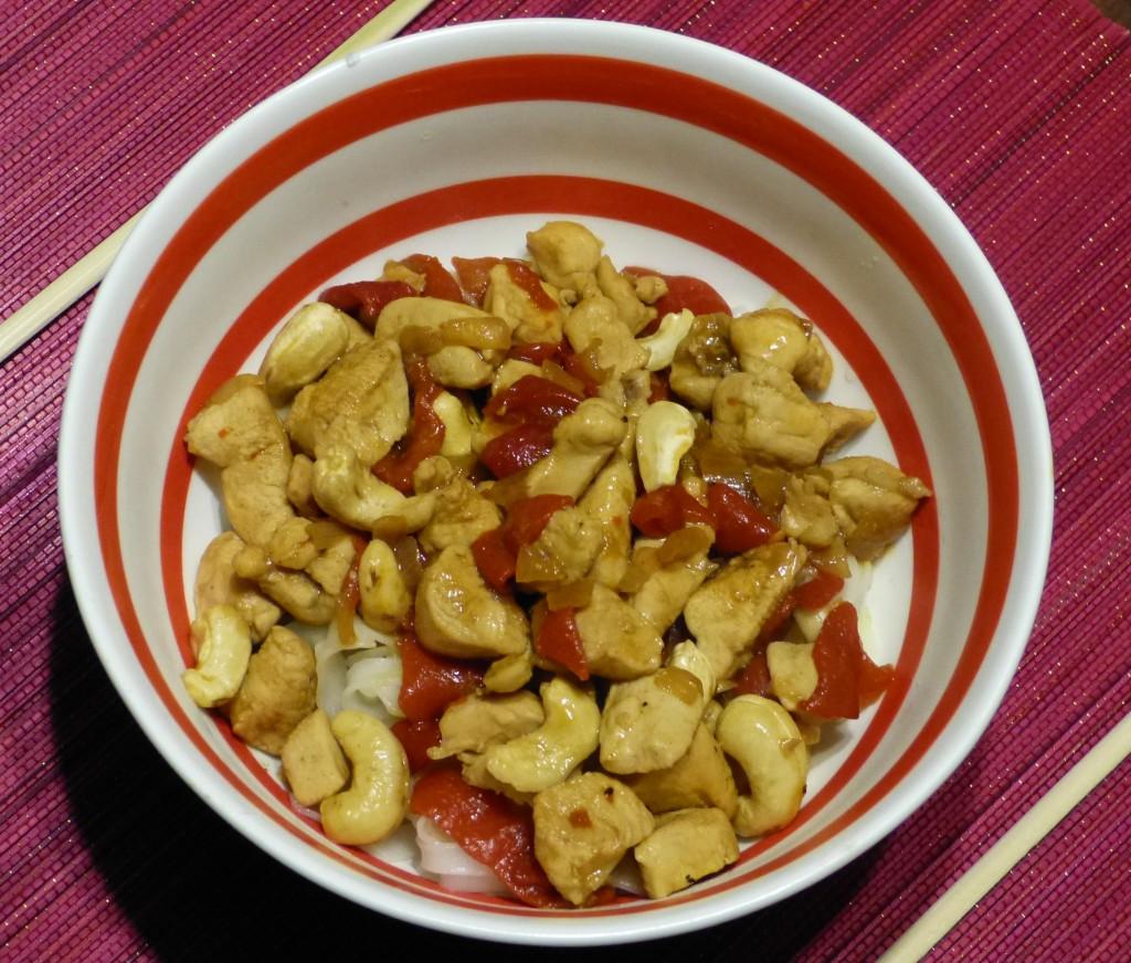 recette poulet nouilles riz cajou