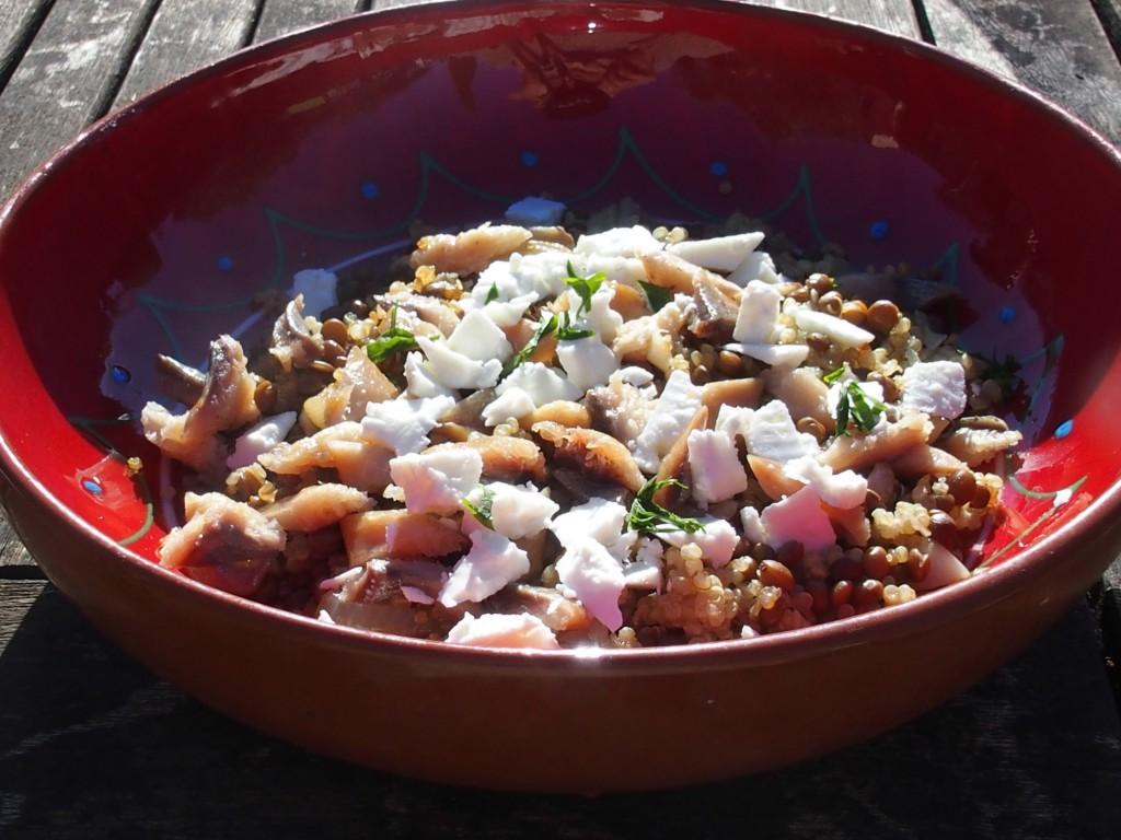 recette salade quinoa lentilles haddock