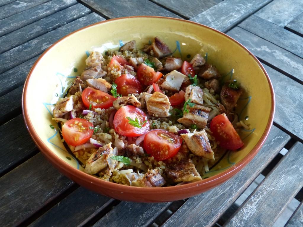 recette quinoa poulet salade