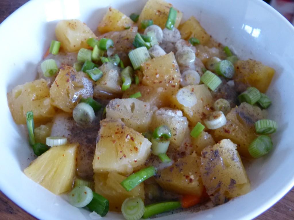 recette saint jacques plancha ananas