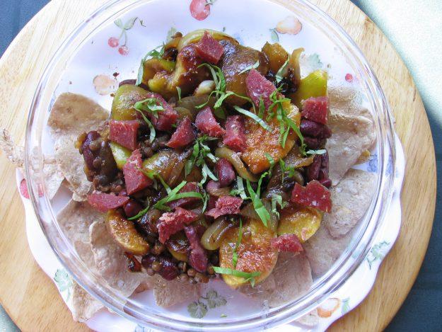 Salade de figues fraîches au jambon cru