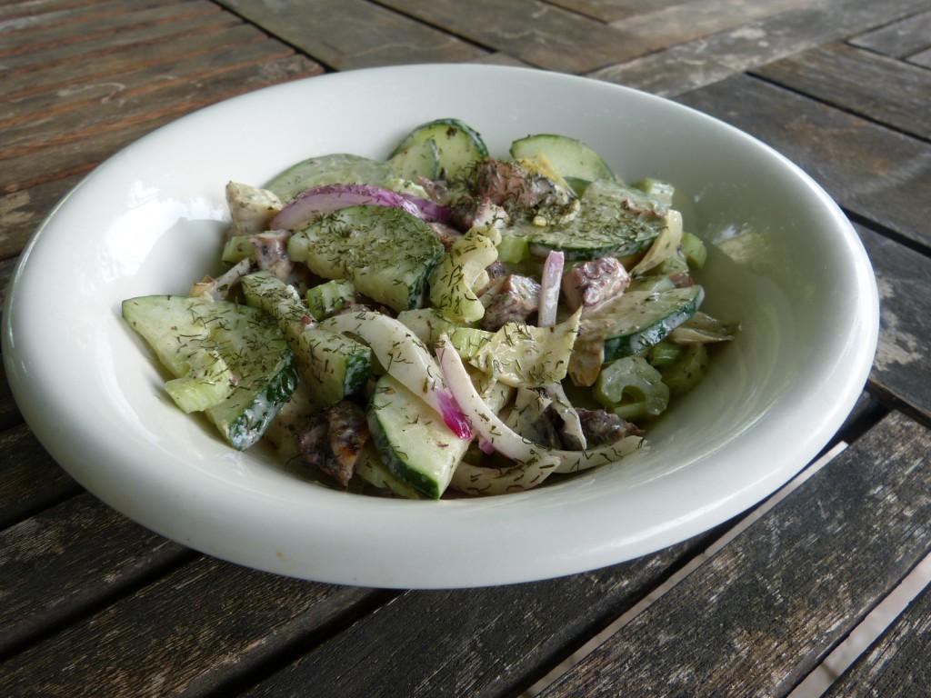 recette salade poulpe artichaut