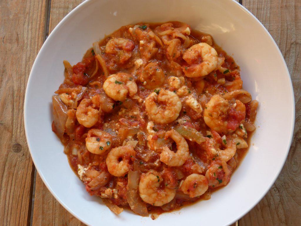 recette saganaki crevettes