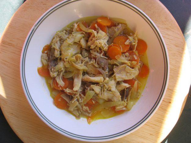 Sauté de poulet fermier à l'orange