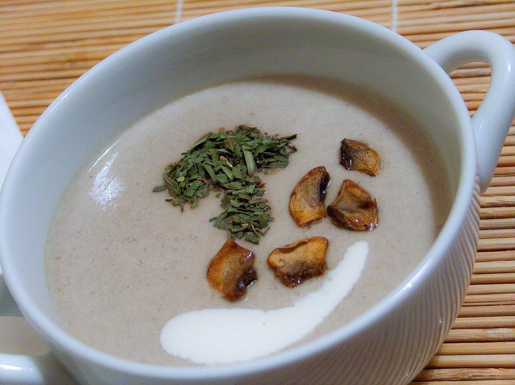 recette creme chataignes cepes soupe