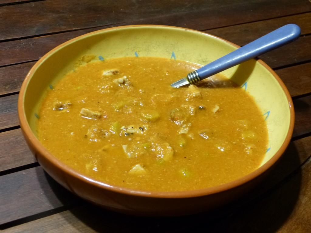 recette soupe gombos dinde
