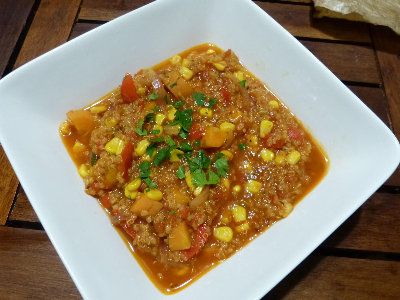 Une soupe originale aux maïs et quinoa