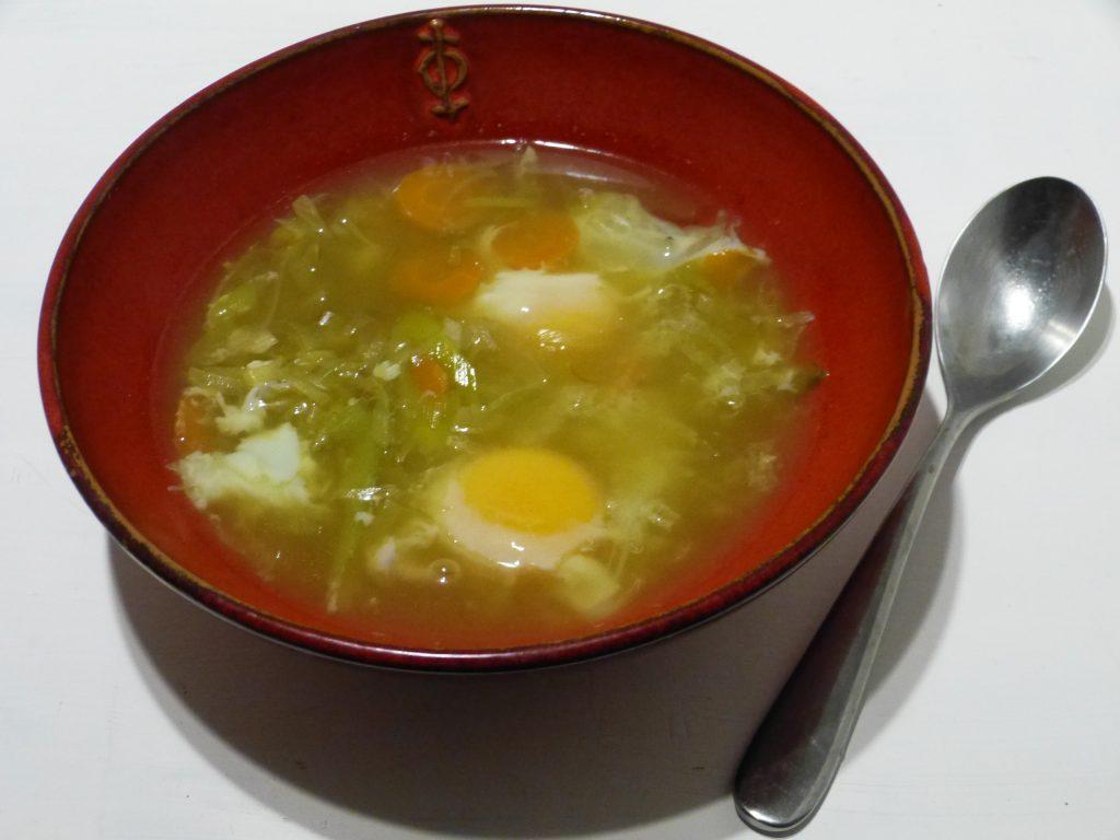 recette soupe oeufs safran poireaux