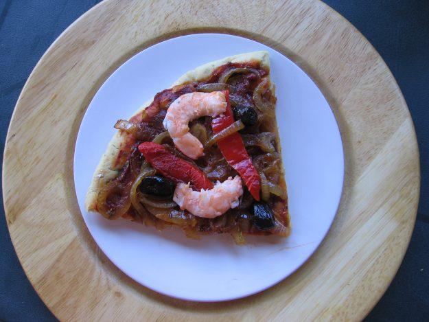 Tarte aux oignons et aux crevettes sans gluten