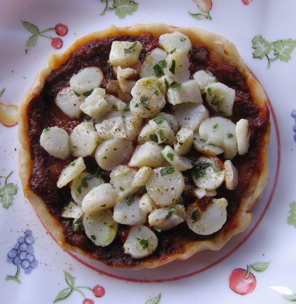 Tartelette de noix de saint-jacques