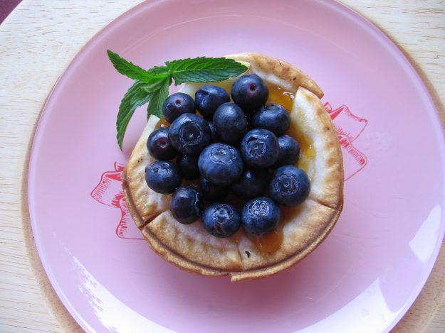 De délicieuses tartelettes aux bleuets