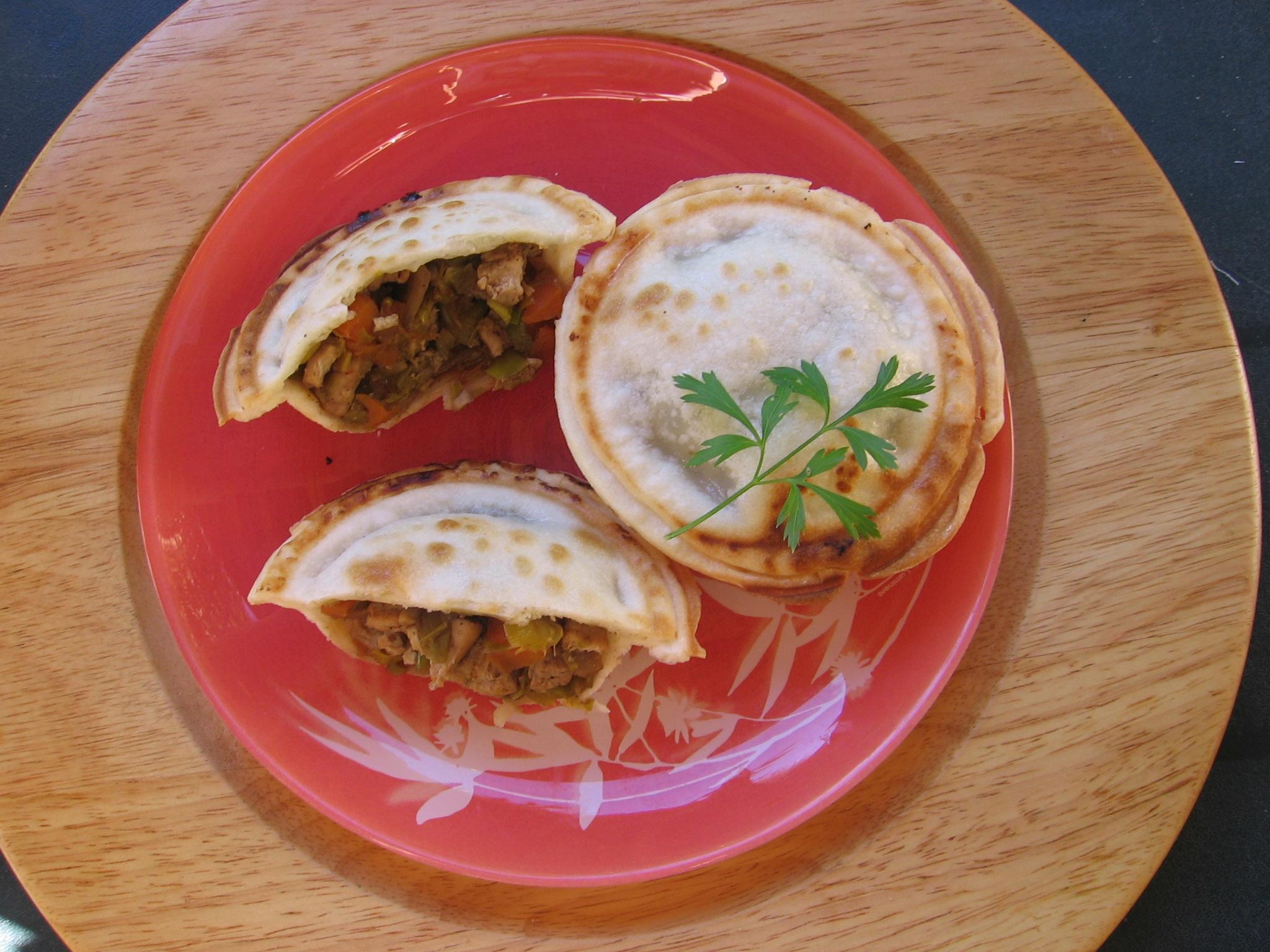 recette tourte poulet legumes
