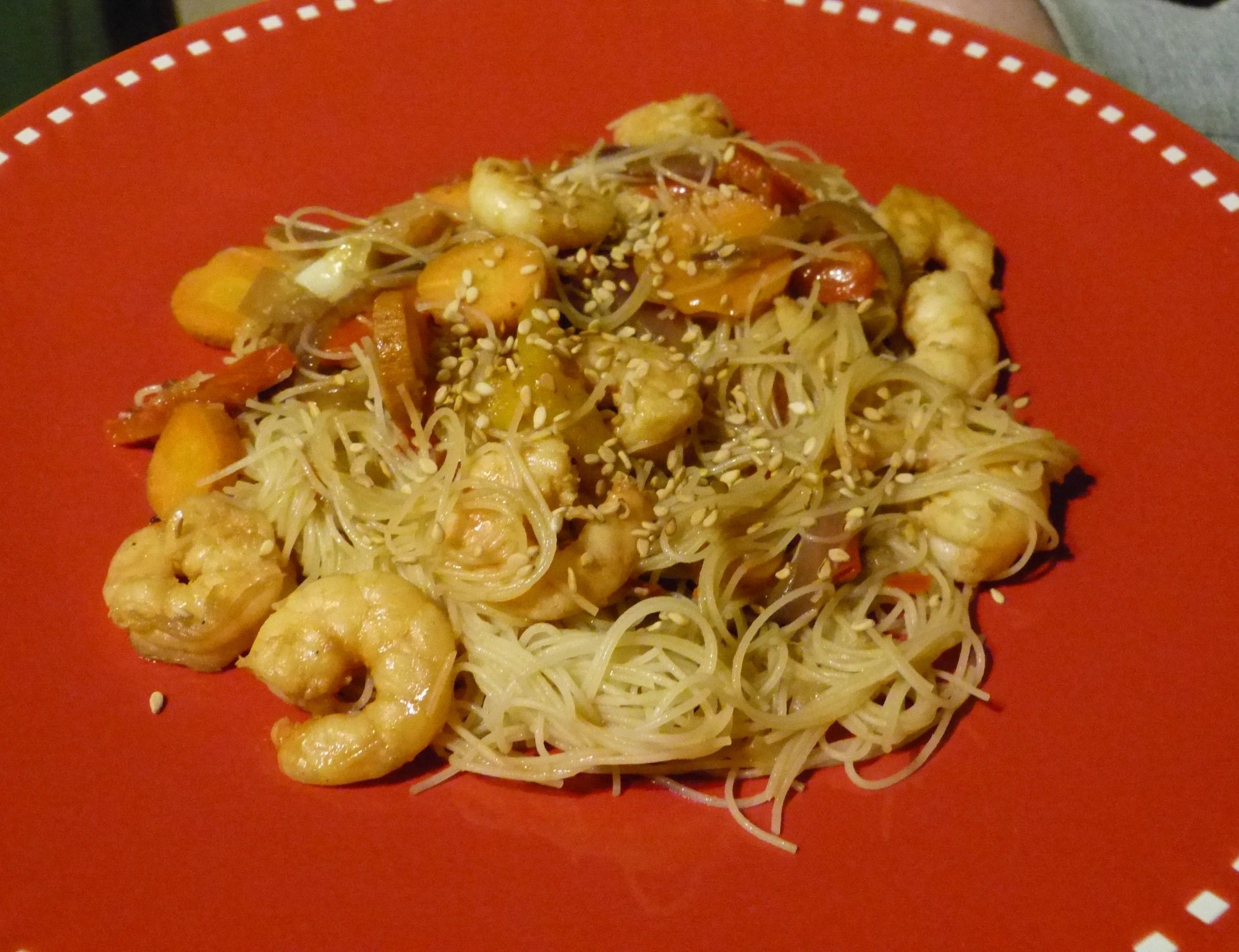Vermicelles de riz aux crevettes