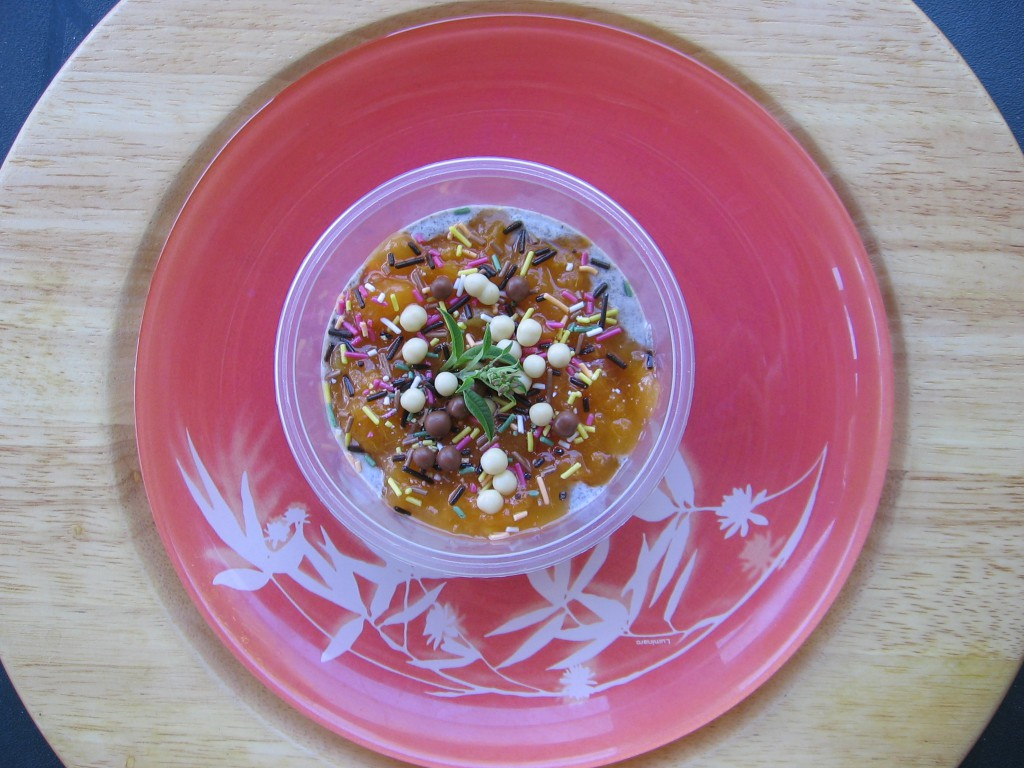 recette verrine abricot oreo