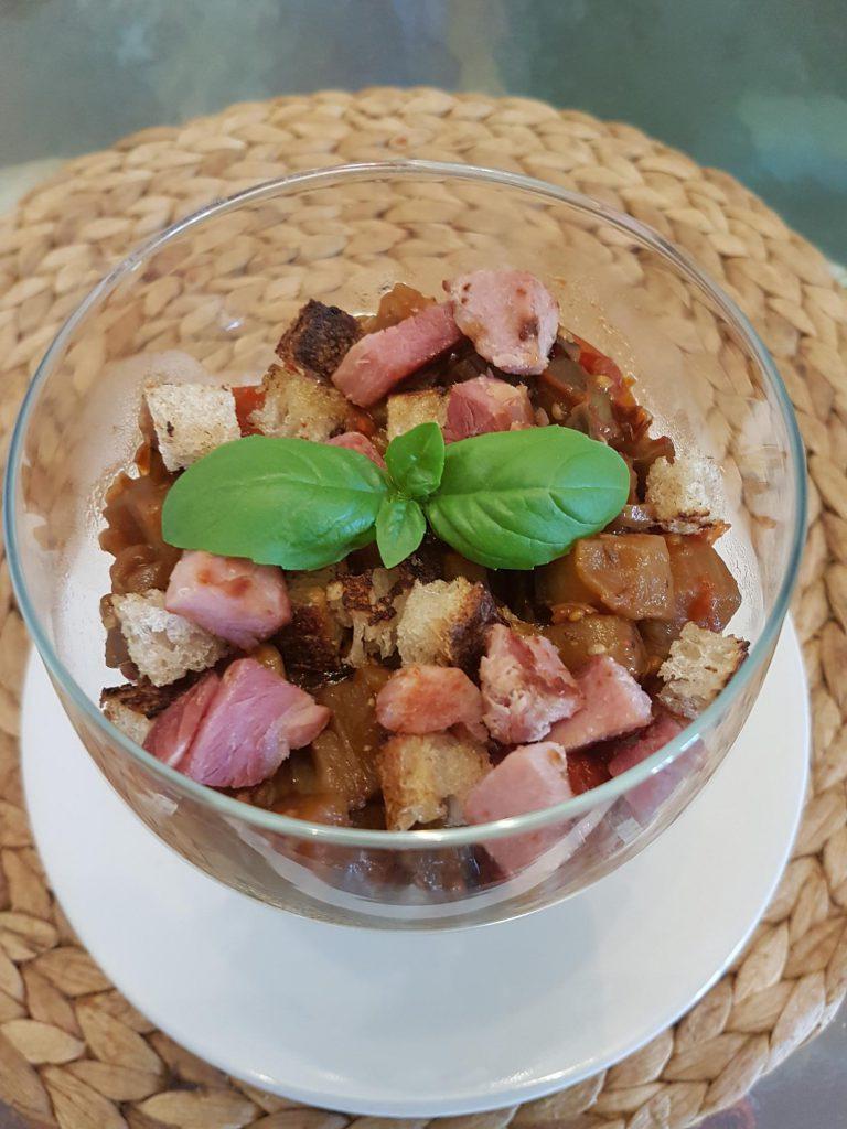 recette aubergines oignons tomates riste