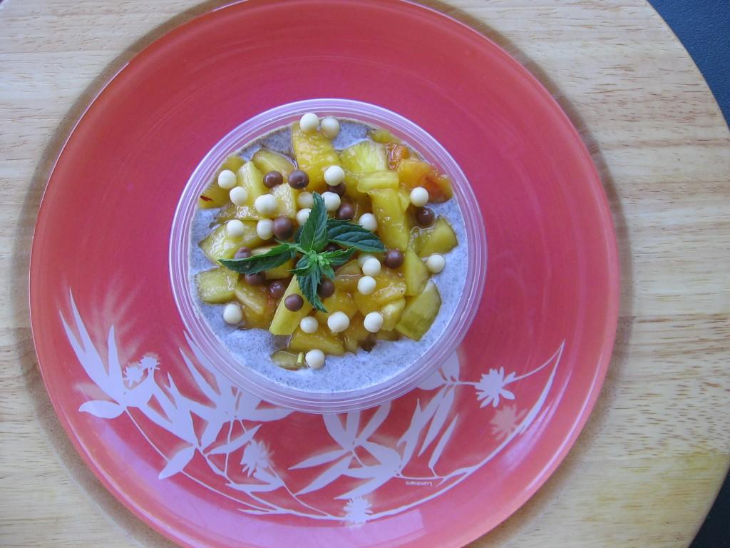 recette verrine nectarine oreo