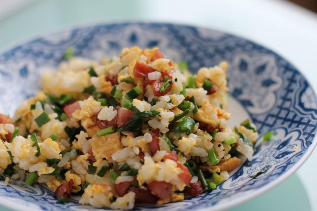 recette riz cantonais saucisses