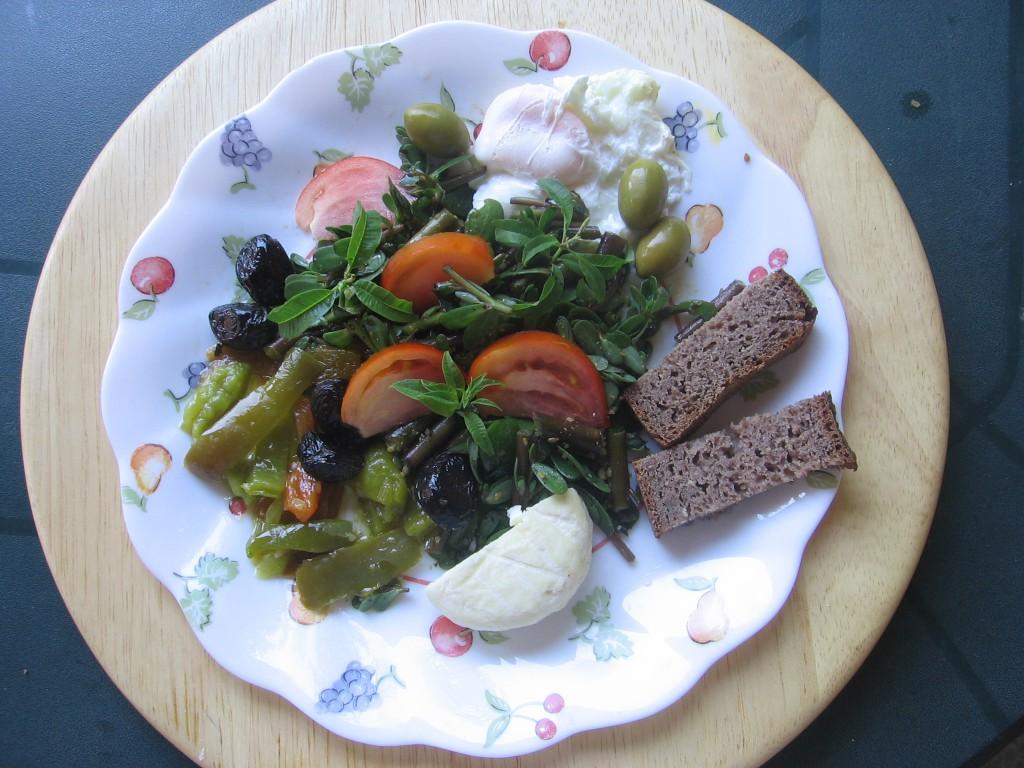 salade cretoise legumes recette pourpier