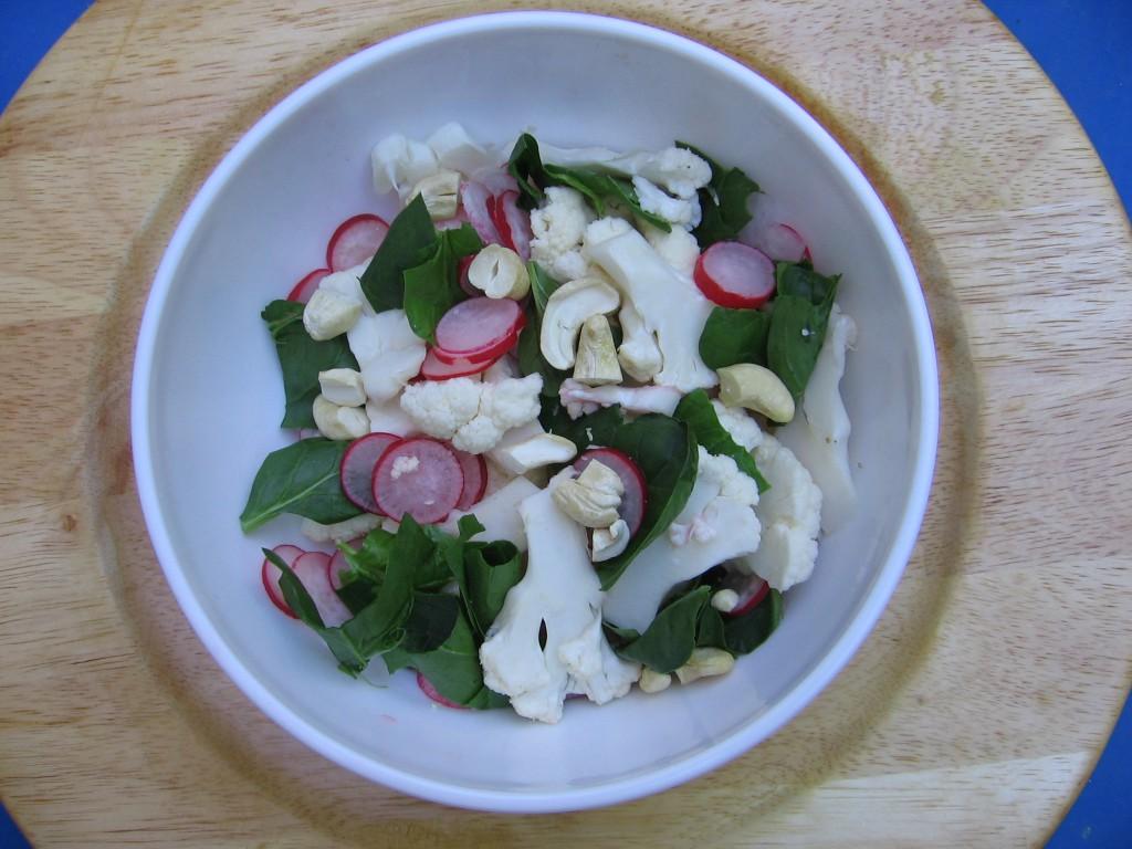 salade radis recette epinard
