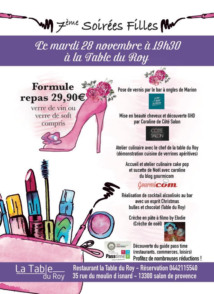 7e soir e filles esprit de no l le 28 novembre salon - Restaurant salon de provence la table du roy ...