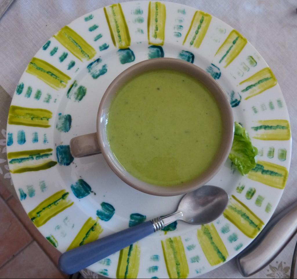 soupe recette menthe petits pois
