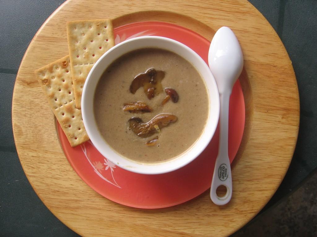 veloute champignons recette crus cuits