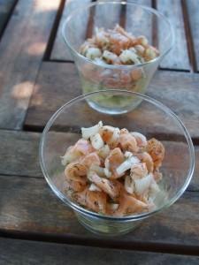 verrine saumon concombre